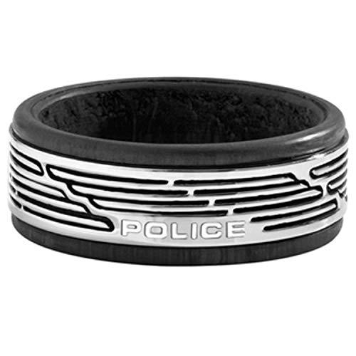 Police Anillo para Hombre Acero Inoxidable Talla 22