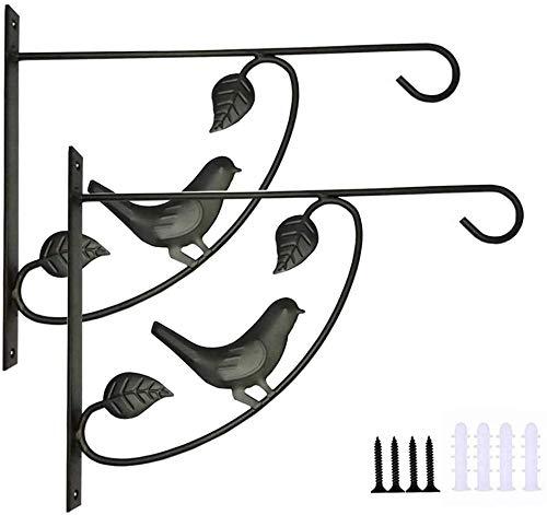 Pkfinrd ijzeren mand, houder voor haken, kleerhangers voor bloempot, geschikt voor het opbergen van vogelvoers, binnen en buiten hangend