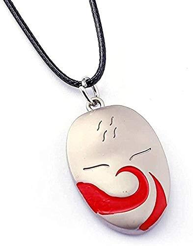 ZHIFUBA Co.,Ltd Collar Collar Anime Shippuden Máscara Collar Cadena Larga Collares y Colgantes Accesorios de Cosplay Figura Juguetes Recuerdos Regalo Regalo