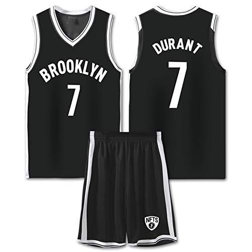 XPGG Duranť netṡwarrioṛbasketball jersey7# 35# Jersey Traje de Baloncesto para niños Hombres y Mujeres Camiseta con Cuello en V Entrenamiento de Fibra de poliéster cómo Black-XXXL