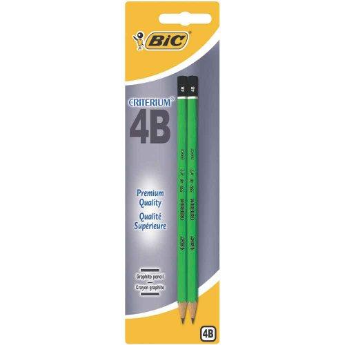 BIC Criterium 550 Crayons à Papier - 4B, Blister de 2