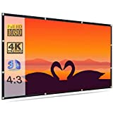 Savsol Projector Screen, Eyelet Screen (10 ft. (W) x 8 ft. (H) - 150' Inch) Diagonal Anti-Crease...