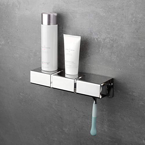 enjoy design Gap Duschablage und Rasiererhalter, Edelstahl poliert, zum Kleben oder Bohren