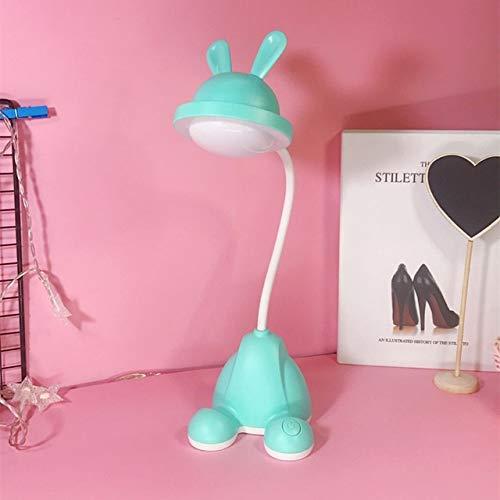 JJZXD Conejo Lindo Mesa de Lectura lámpara de Tabla Ligera llevada rotativa Plegable Escritorio de Carga USB Novedad de la lámpara de Lectura Mesa de luz Lámparas Flexo (Color : B)