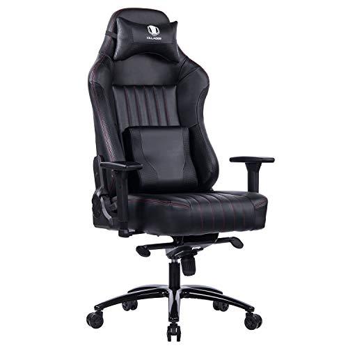 KILLABEE Memory Foam Gaming Chair, Adjustable Tilt Angle and 3D Armrest Ergonomic High-Back Leather Racing Executive Computer Desk Office Metal Base (Black)