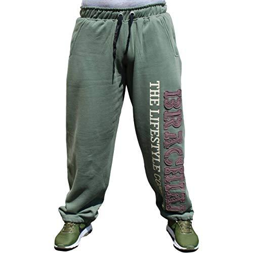Brachial Premium Herren Sporthose Gym Grün M - Trainingshose Jogginghose Sweatpants für Bodybuilding Fitness Freizeit