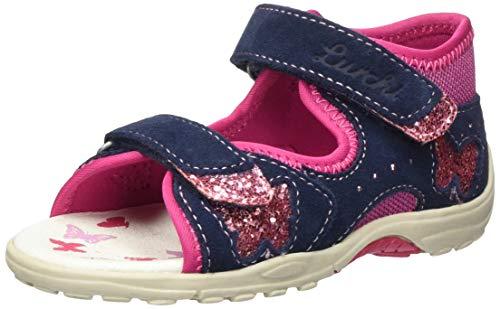 Lurchi Baby Mädchen Marzia Sandalen, Blau (Navy Pink 22), 23 EU