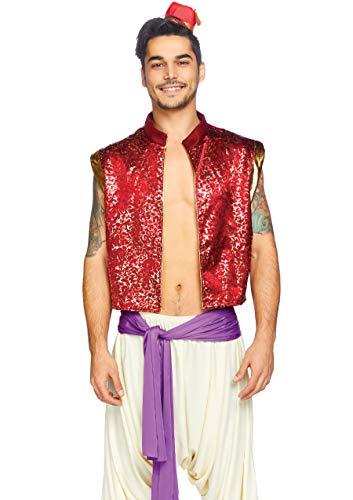 Leg Avenue 3 Pc Desert Prince Costume Adult Sized, Multicolor, M-L para Hombre