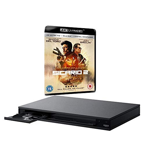 Sony UBP-X800 MULTIREGION Blu-ray Player Bundle with Sicario 2 Soldado Ultra HD 4K Blu-ray Disc