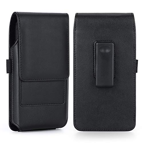 Mopaclle Galaxy Note 20 Ultra 5G Holster Case, 360° Roating Belt Clip Case Carrying Pouch with ID Card Cover Holder for Samsung Galaxy Note 8 9, Note 10 Plus, S8 Plus S9 Plus S20+, LG K61- Black