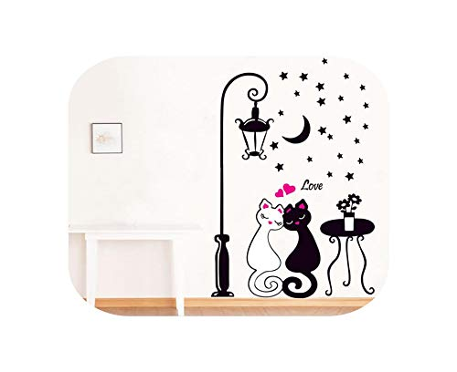Stick Wall Decals| Arrival Cat Wall Sticker For Kids Room Lamp And Butterflies Stickers Decor Decals Removable Cartoon Lovely-