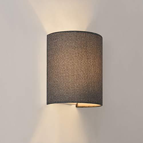 lux.pro Wandleuchte Up Down 1xE27 Wandlampe Halbrund Grau Beleuchtung Flur Wandstrahler