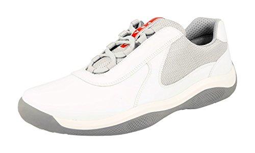 Prada Herren Weiss Leder Sneaker 4E2905 43 EU/UK 9