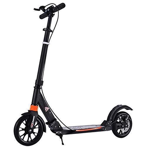 WYJJ Scooter Plegable para Adultos, Ligero, Ajustable - Lleva a Adultos 100 kg de Carga máxima