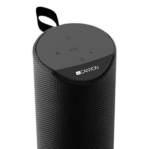 Altavoz Bluetooth Canyon portátil, micrófono de 6 W, Tarjeta SD, AUX de...