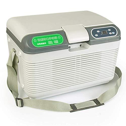 SHKUU Refrigerador de Coche 12 litros Mini Nevera 12 / 24v / 220v Refrigerador de Coche Vehículo portátil Nevera de Camping Congelador Refrigerador eléctrico Caja de Coche Hogar de Doble Uso
