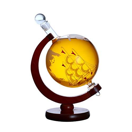 XJJ Weinregal Sekt Dekanter, Glas Flasche Dekanter, Globus Flaschengestell, hermetisch dicht |Weinkaraffe, geeignet for Bars, Partys, Camping weinregal Metall (Size : B)