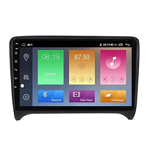ZHANGYY Unidad Principal de 9 Pulgadas Android 10.0 2DIN Navegación estéreo para automóvil Compatible con Audi TT 2006-2012, GPS/Bluetooth/FM/RDS/DSP/Control del Volante/Cámara Trasera,
