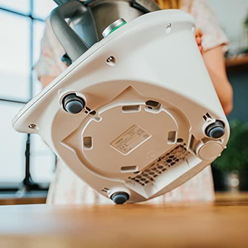mixcover 3 deslizadores invisibles para el Thermomix Friend TM6 TM5 - la alternativa autoadhesiva, eficaz y económica a la tabla deslizante