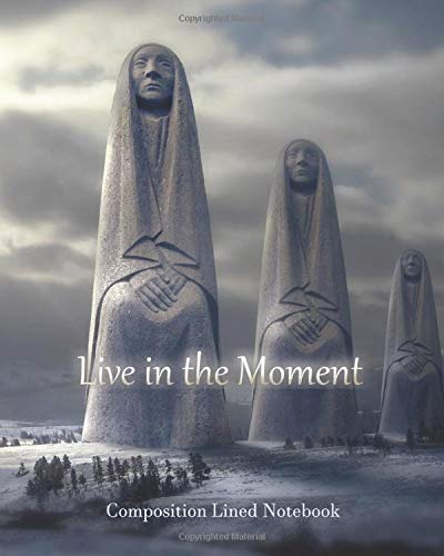 Live in the Moment Composition Lined Notebook: Wise Woman, Raven--College Ruled (Fantasy Landscape)