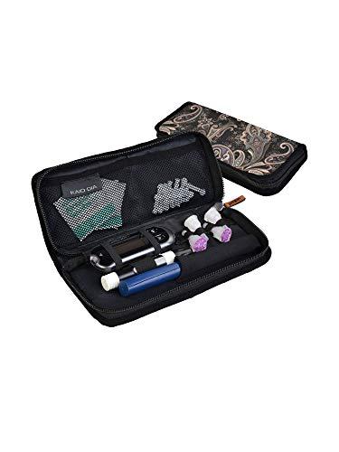 Dia-Pencase, kit de almacenamiento para diabéticos: bolígrafos de insulina, glucómetro USB, lancetas, toallitas, lancetas - Accesorio de viaje para diabetes. (Batik Butik)