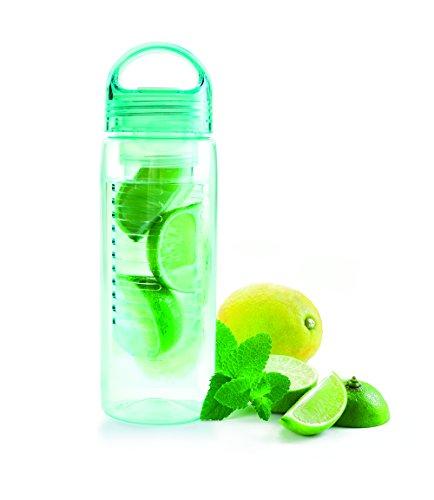 IBILI 720407 - Botella infusor de plástico, Transparente, 7 x 7 x 25 cm
