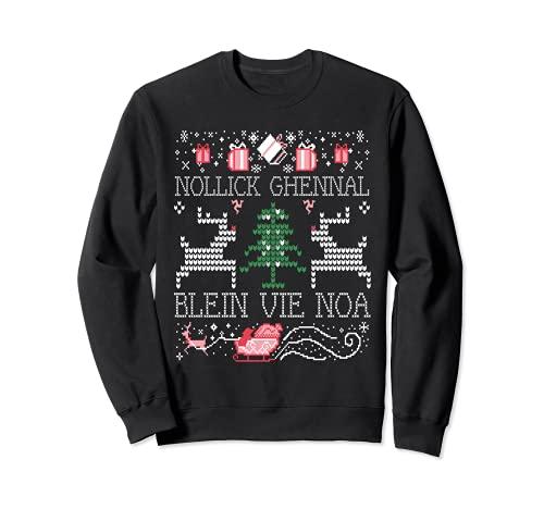 Feo Nollick Ghennal Blein Vie Noa Un Manx Saludo de Navidad Sudadera
