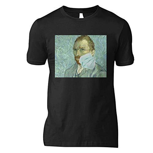 V-V-A-N-N Gogh Córonavirus Mask Meme Classic T Shirt Basic Novelty Tees Graphics Female Cotton Printed Awesome Casual Cute Simple