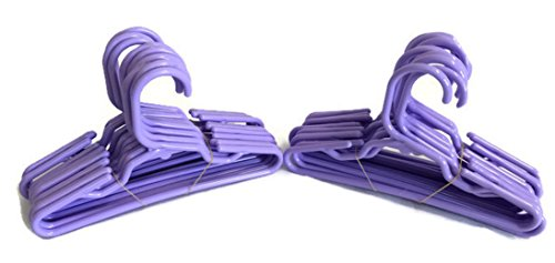 Doll Hangers Set of 24 Plastic Hangers Lavender, Fits 18 Inch American Girl Dolls Clothes, Doll Accessories