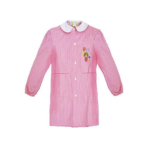 grembiule scuola bimba asilo con bottoni bianco e rosa art. 742 (50, rosa)