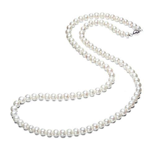 TreasureBay Elegante Collana di Perle d'Acqua Dolce Grado AA per Donna (61)