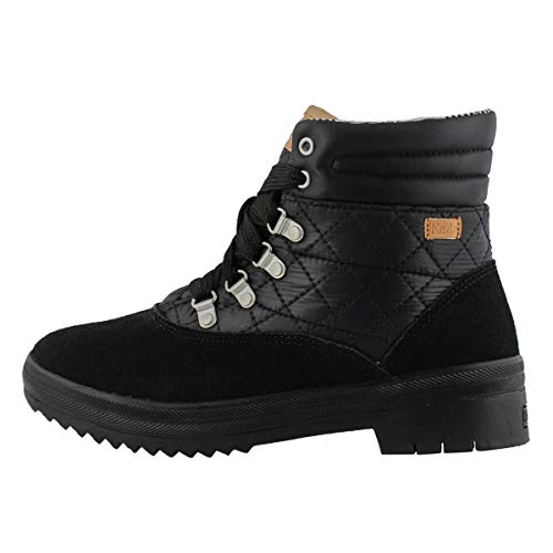 Keds Womens Camp Lace Up Boots Ankle - Black - Size 8.5 B