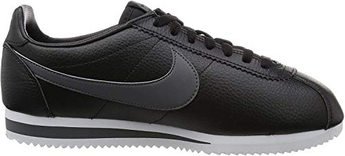 Nike Classic Cortez Leather, Zapatillas de Running Hombre, Negro (Black / Dark Grey / White), 42