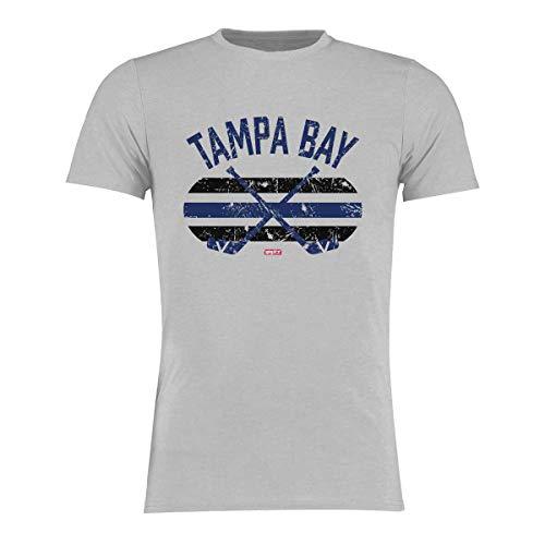 BRAYCE® Tampa Bay T-Shirt I Eishockey Shirt Größe S - 3XL I Hockey Style für Eishockeyspieler und Fans (XL)