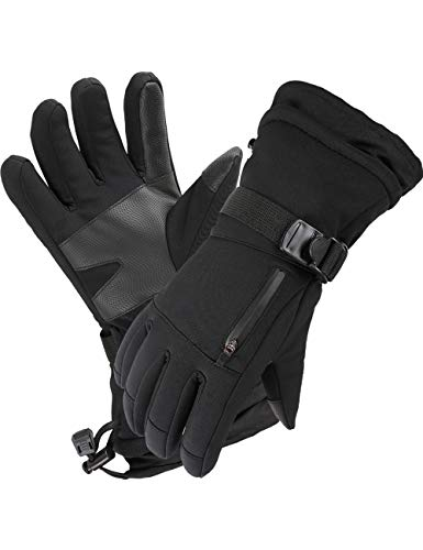 Frlozs Ski & Snow Gloves Waterproof Insulated -30°F 3M Touchscreen Thermal Gloves Motorcycle Gloves for Men & Women Snowmobile Gloves Snowboarding X-large