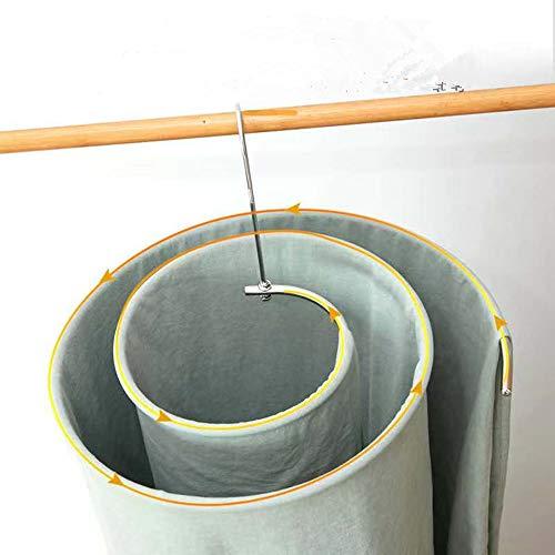 poiuyt Lenzuola rotanti per stendibiancheria con Manico Rotante, manufatto a Spirale Tondo, Coperte in Acciaio Inossidabile