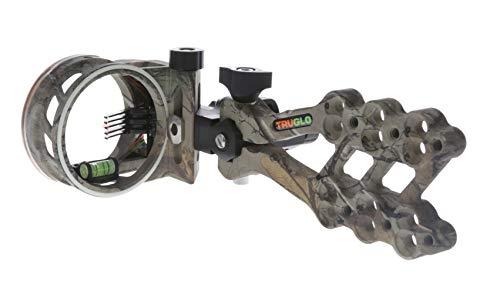 TRUGLO HYPER-STRIKE Ultra-Light Long Range Bow Sight, DDP 5-Pin, Realtree Xtra Camo