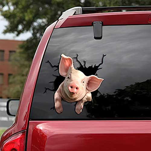 French Bulldog Crack Car Sticker Window Decal Sticker Pet Funny Puppy Lover Stickers Cars Crack Decal Trucks Vans (F)
