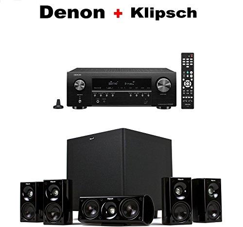 Denon AV Component Receiver (AVRS540BT) + Klipsch HDT-600 Home Theater System Bundle
