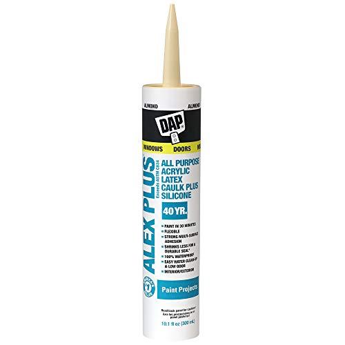 DAP, Almond 18130 Acrylic Latex Caulk With Silicone, 10.1-Ounce, 10 Ounces