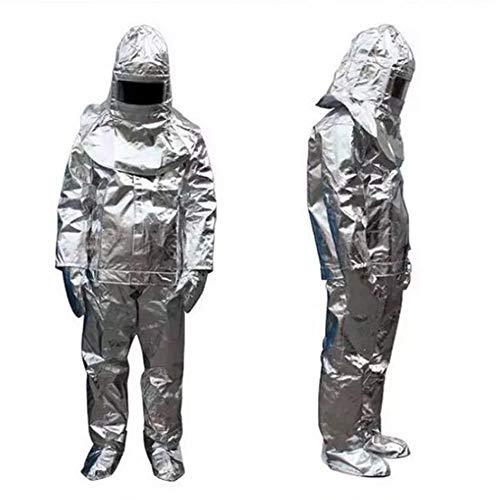 Heatile Aluminiumfolie Arbeitskleidung Feuerfest wärmeisolierend Abriebfest und faltfest Für Feuerfelder mit starker Strahlungswärme Beständig bis 1000 ° C