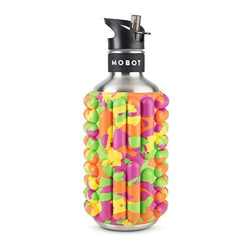 MOBOT Official – Big Bertha 40oz – Foam Roller Water Bottle - High Performance Stainless...