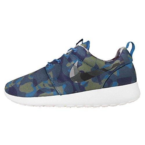 Nike Wmns Roshe One Print, Brgd Blue/wolf Grey-obsidian-sqdrn Blue, 5.5 Us