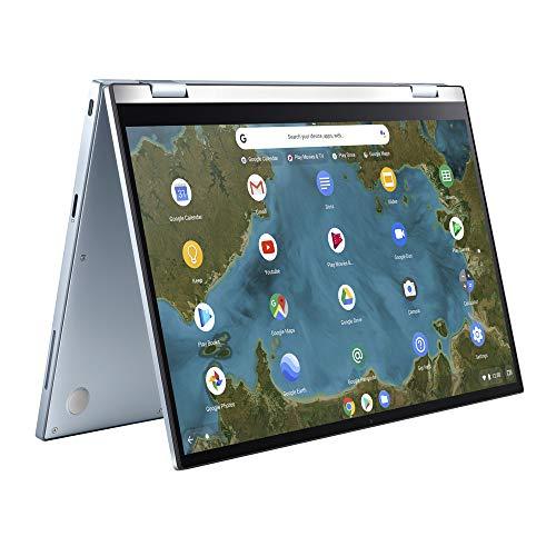 ASUS Chromebook Flip C433TA (90NX02G1-M02310) 35.5 cm (14 Zoll, Full HD, IPS-Level, NanoEdge, Touch) Notebook (Intel Pentium Gold 4415Y, Intel HD-Graphics 615, 8GB RAM, 64GB eMMC, Chrome OS) Silver