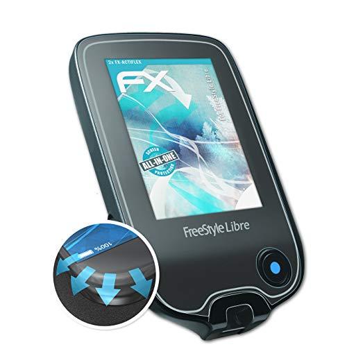 atFolix Schutzfolie kompatibel mit Freestyle Libre Folie, ultraklare und Flexible FX Displayschutzfolie (2X)