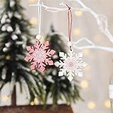 ZHUYU Árbol de Navidad Colgando Colgante Decoración, 12pcs / Set Pintado decoración Colgante de la Navidad de la Campana de Navidad, Copo de Nieve de Navidad, Alces de Navidad