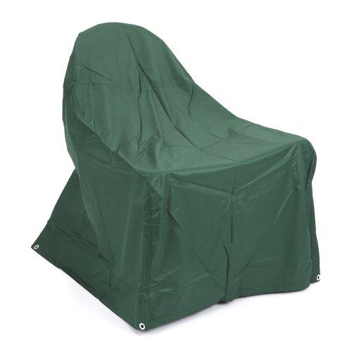 Trueshopping Green Heavy Duty Bagnino Completamente Impermeabile Esterno Meteo PVC di Copertura per mobili da Giardino/poltrone Adirondack Sedia Realizzata in Poliestere 800mm x 1000mm x 520/960mm
