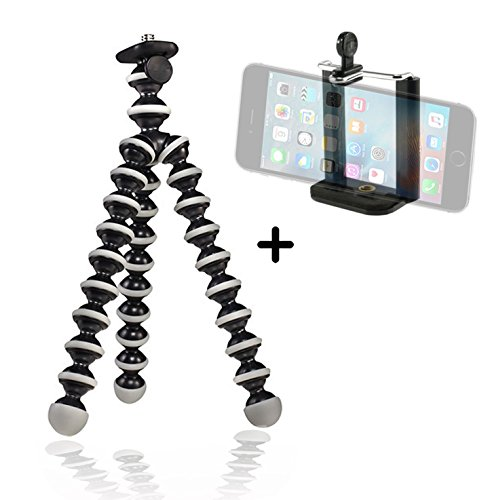 JULED ZJ9389383 Best Flexible Tripod for Cell iPhone & Small Camera Lightweight Mini Tripods, Bendable Compact Simple to Mount Easy to Use Adjustable Adapter, Create Better Selfies & Videos Now!