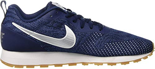 Nike MD Runner 2 ENG Mesh, Scarpe da Ginnastica Basse Uomo, Multicolore (Midnight Navy/Metallic Silver/Gym Blue 402), 44.5 EU