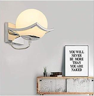 geoco, applique con sfera LED in vetro, lampada moderna da interni, in acciaio inossidabile, per soggiorno, camera da lett...
